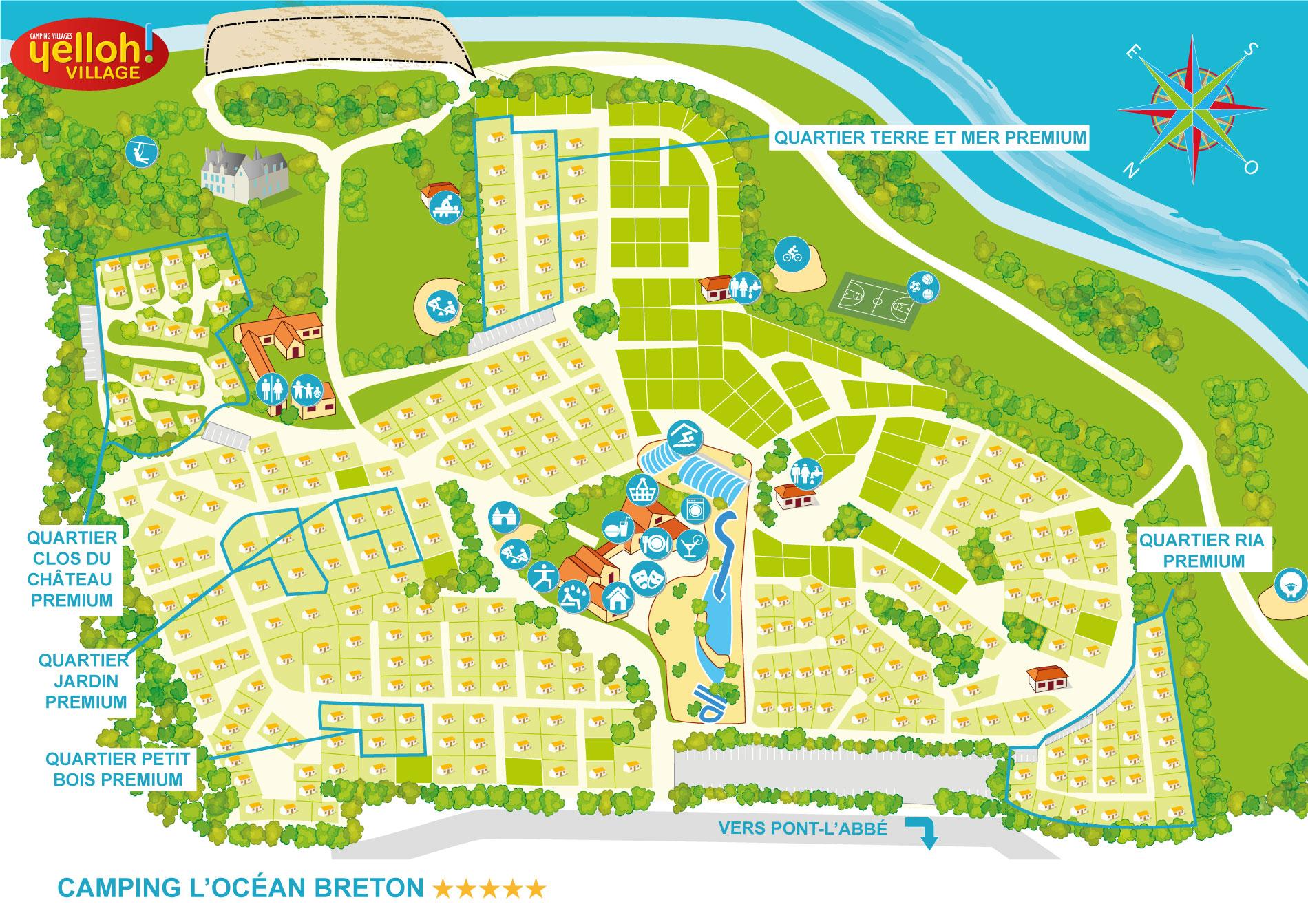Camping Lu0026#39;Ocean Breton ***** Yelloh! Village en Lesconil